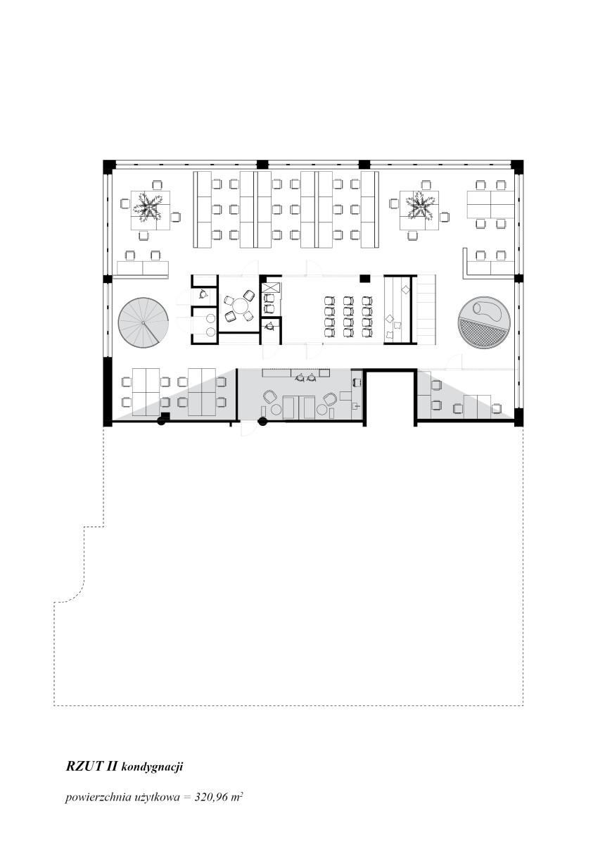 8486 arch - wnętrze biura IT - rzut piętra